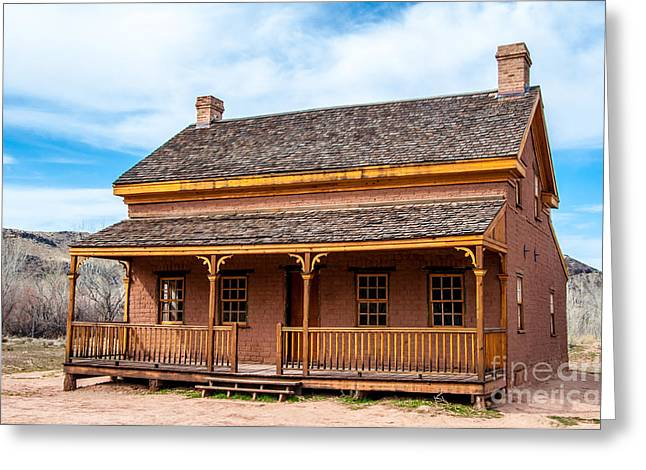 Historic Home Greeting Cards - Russell Home - Grafton Ghost Town - Utah Greeting Card by Gary Whitton
