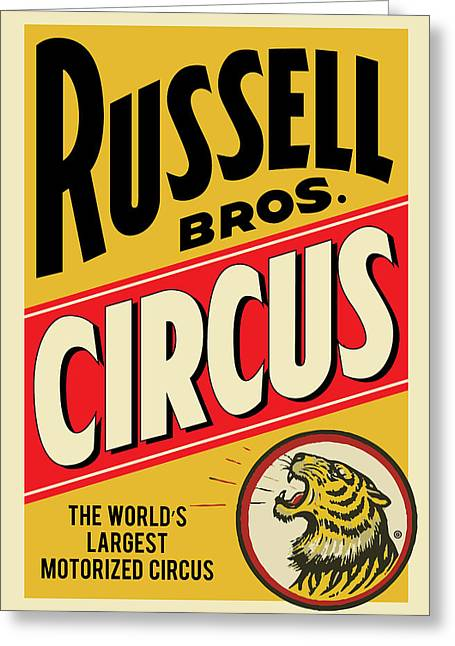 Russell Circus Greeting Card by Gary Grayson