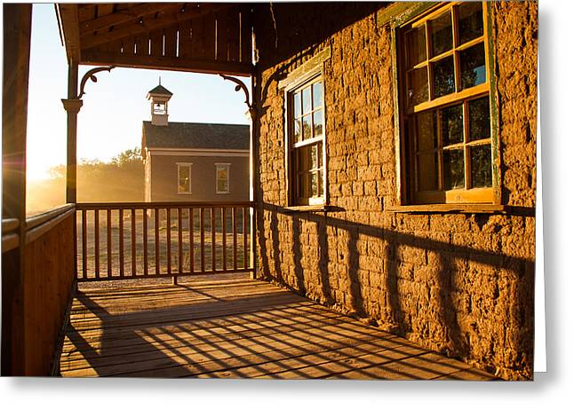 Grafton Center Greeting Cards - Russell House Veranda in Grafton Ghost Town Rockville Utah Greeting Card by Robert Ford