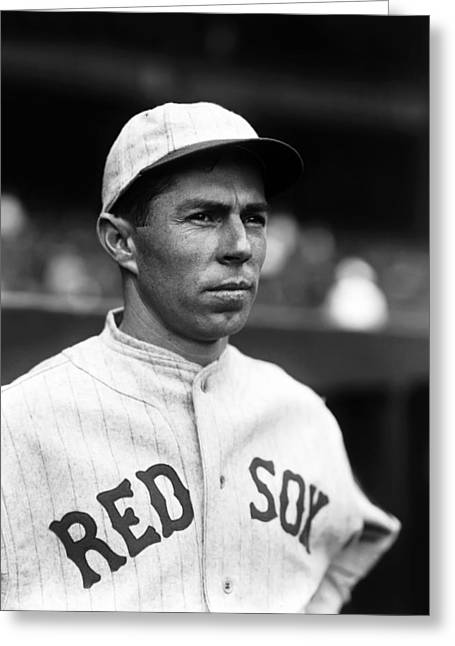Boston Red Sox Greeting Cards - Russell M. Russ Scarritt Greeting Card by Retro Images Archive