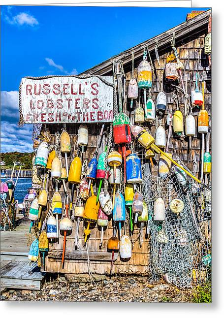 Recently Sold -  - Shed Greeting Cards - Russells Lobster Shack II Greeting Card by Jeff Donald