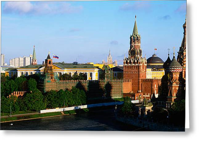 Onion Dome Greeting Cards - Russia, Moscow, Red Square Greeting Card by Panoramic Images