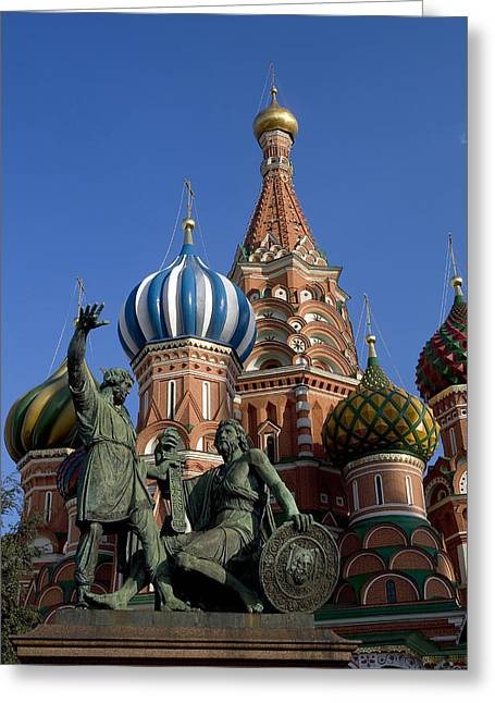 Christianism Greeting Cards - Russia, Moscow, Red Square, St.basil Greeting Card by Tips Images