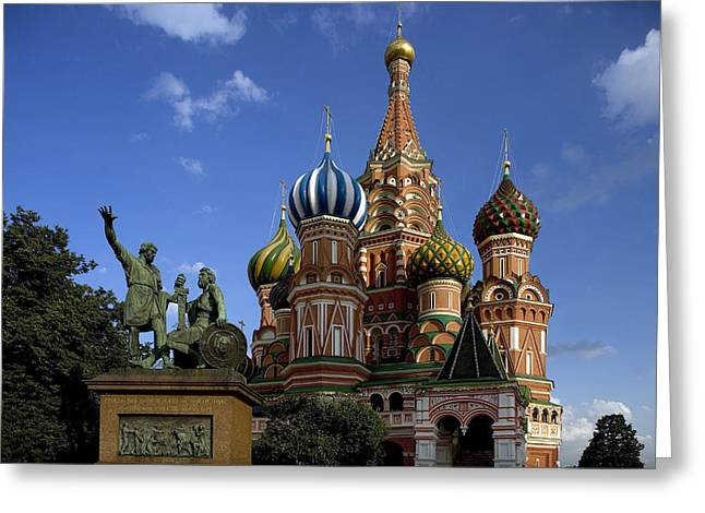 Christianism Greeting Cards - Russia, Moscow Red Square,st.basil Greeting Card by Tips Images