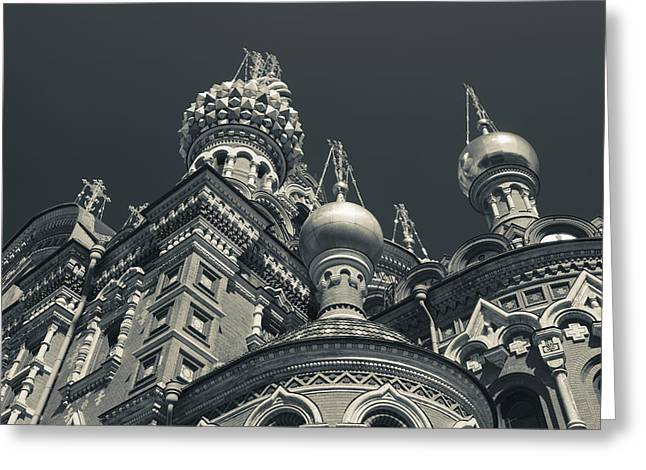 Russia, Saint Petersburg, Center Greeting Card by Walter Bibikow