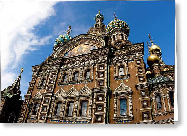 Russia, St Petersburg Church Greeting Card by Jaynes Gallery