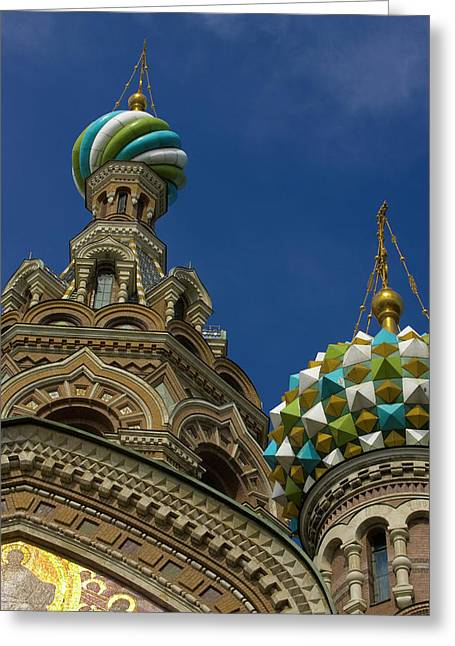 Russia, St Petersburg Towers Greeting Card by Jaynes Gallery