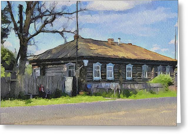 Old Town Digital Art Greeting Cards - Russia Village 2 Greeting Card by Yury Malkov