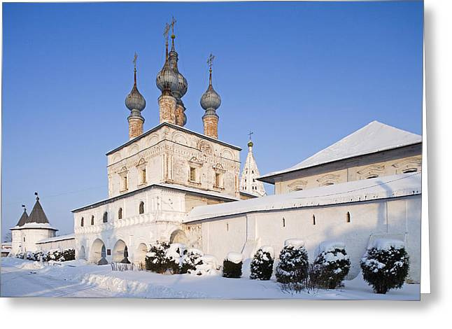 Archangel Greeting Cards - Russia, Yuriev-polsky, Monastery Of The Greeting Card by Tips Images