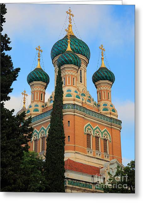 Russian Orthodox Greeting Cards - Russian Church Greeting Card by Inge Johnsson