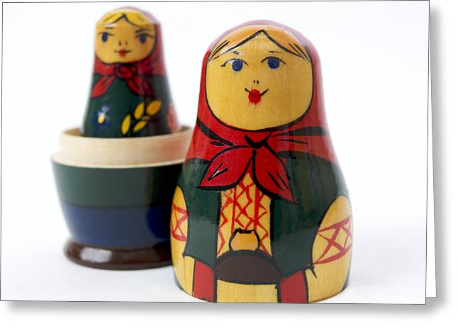 Inside Of Greeting Cards - Russian dolls Greeting Card by Bernard Jaubert