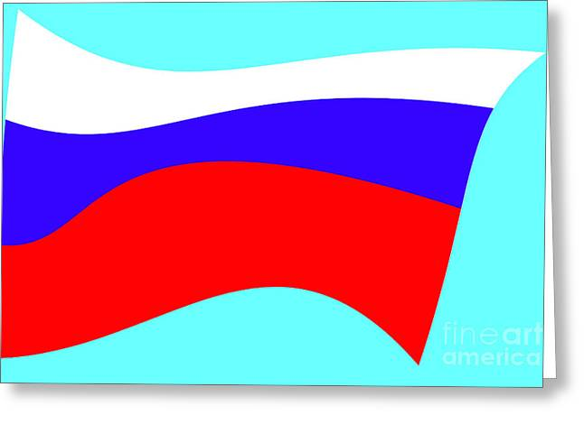 States Tapestries - Textiles Greeting Cards - Russian flag Greeting Card by Lali Kacharava