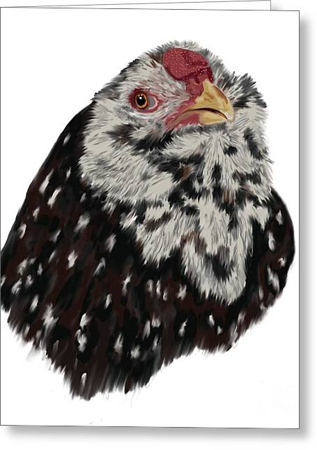 Mille Fleurs Greeting Cards - Russian Orloff Rooster Greeting Card by Leigh Schilling