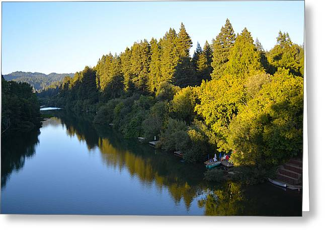 Small Towns Greeting Cards - Russian River Greeting Card by Art K
