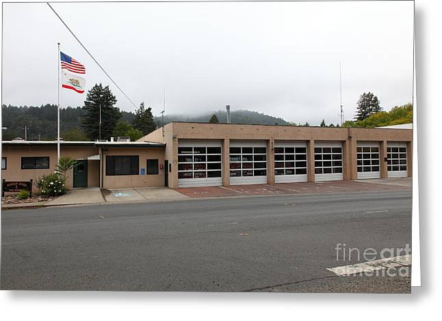 Sonoma County Greeting Cards - Russian River Fire District 1 In Guerneville California 5D25917 Greeting Card by Wingsdomain Art and Photography