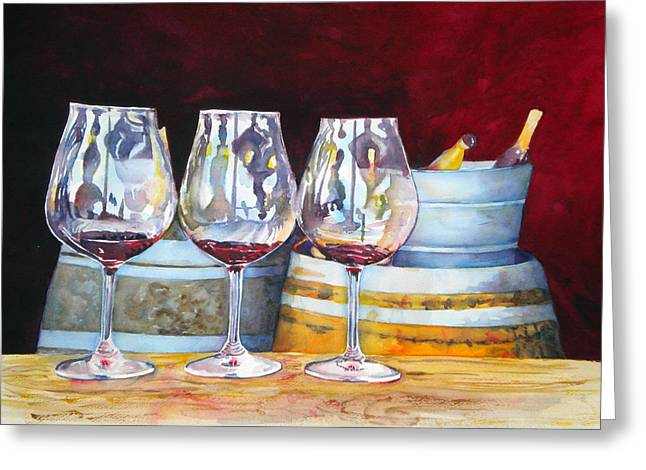Zinfandel Greeting Cards - Russian River Wine Tasting Greeting Card by Richelle Siska