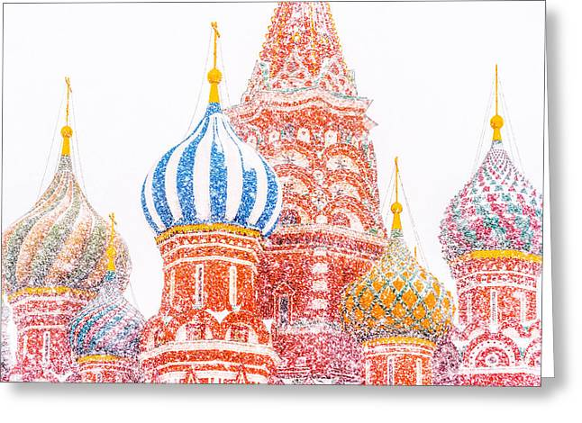 Cupola Greeting Cards - Russian Winter Greeting Card by Alexander Senin