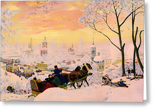 Russian Winter Greeting Card by Mountain Dreams