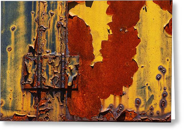 Trees Light Windows Greeting Cards - Rust Abstract Greeting Card by Jack Zulli