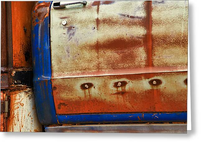 Old Trucks Greeting Cards - Rust and Blue Greeting Card by Toni Hopper