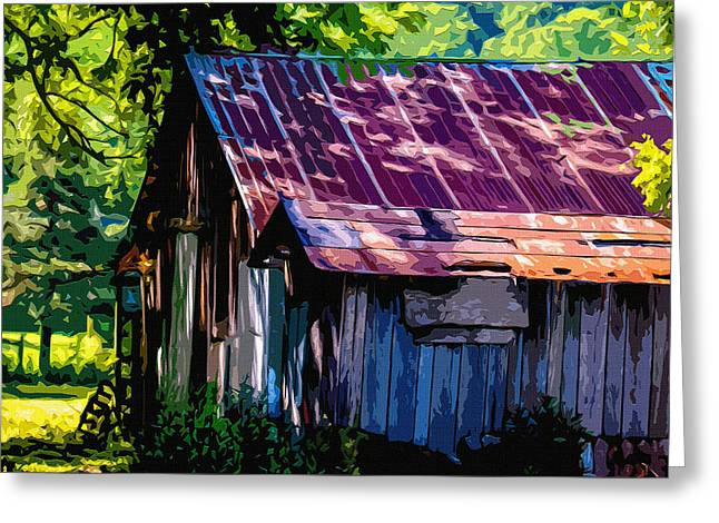 Shed Digital Art Greeting Cards - Rust and rays Greeting Card by Brian Stevens