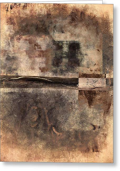 Abstractions Greeting Cards - Rust and Walls No. 2 Greeting Card by Carol Leigh