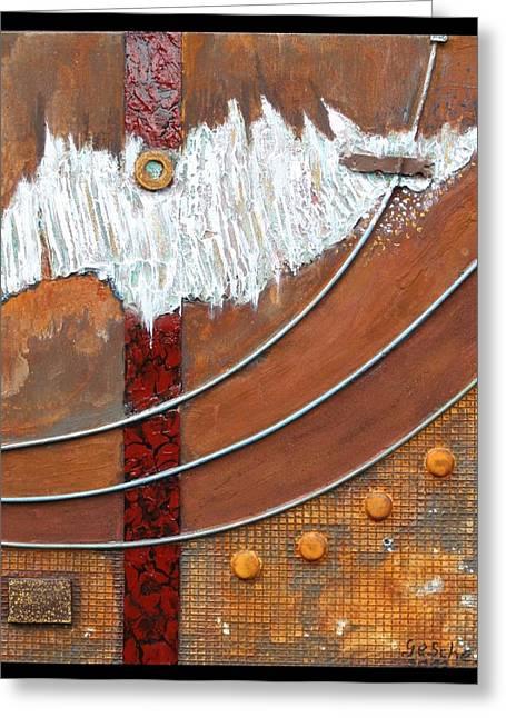 Rust Art 04 Greeting Card by Gertrude Scheffler