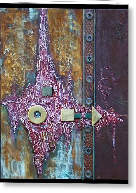 Rust-art Greeting Card by Gertrude Scheffler
