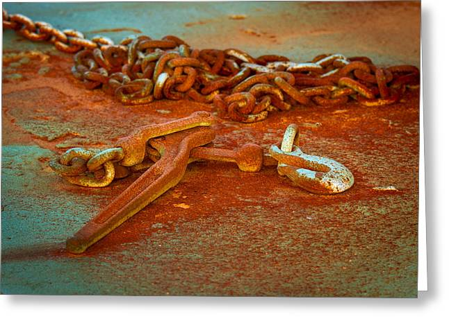 Power Plants Greeting Cards - Rust as  Art Greeting Card by Jean Noren