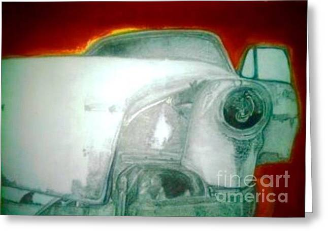 Rusted Cars Drawings Greeting Cards - Rust Bucket  Greeting Card by Nathan Mwenda