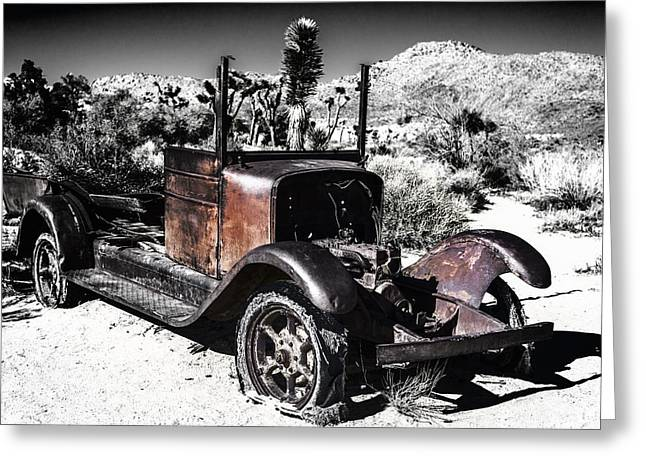 Rusted Cars Greeting Cards - Rust in Black and White Greeting Card by Joseph S Giacalone