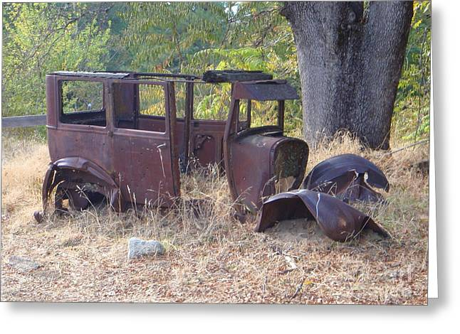 Rusted Cars Greeting Cards - Rust in Full Bloom Greeting Card by Mary Deal