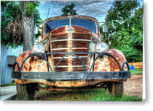 Fine Art Photography Greeting Cards - Rust never sleeps front grill Greeting Card by Geoff Mckay