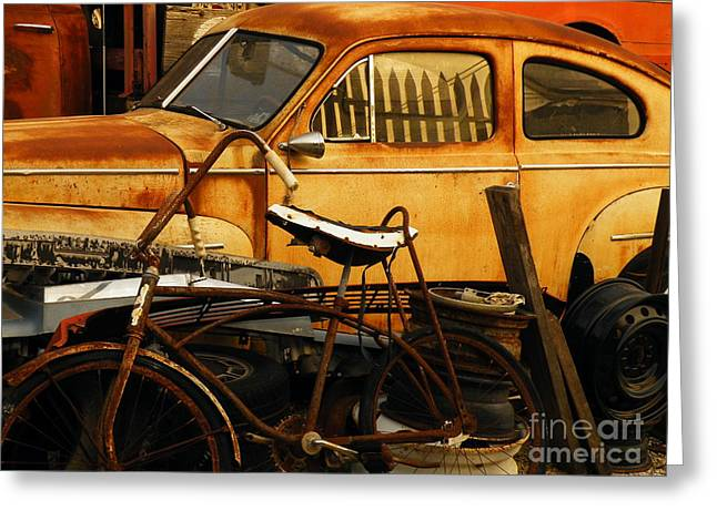 Rust Race Greeting Card by Joe Jake Pratt