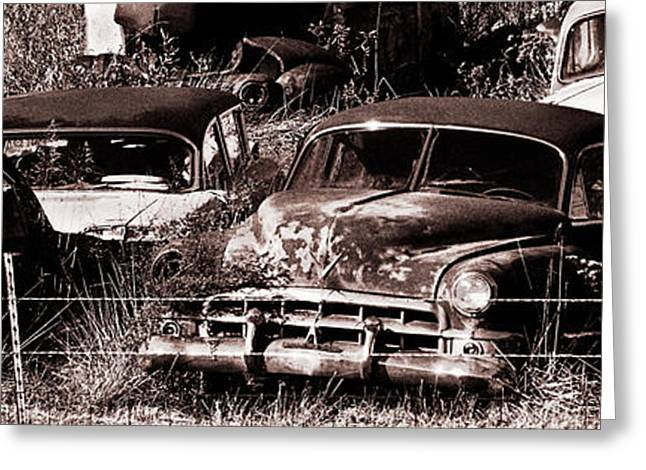 Rusted Cars Greeting Cards - Rust Greeting Card by Thomas Bomstad