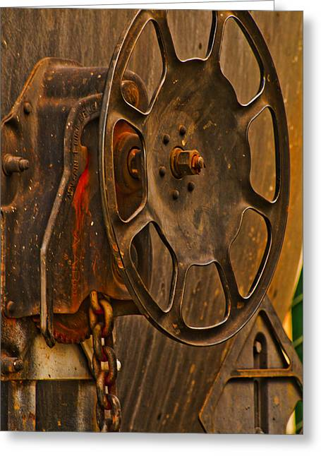 Patch Pyrography Greeting Cards - Rusted Brake Greeting Card by Pobby Heglar