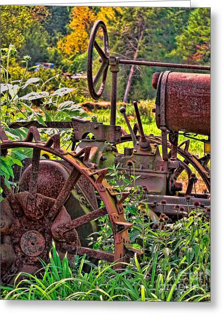 Harvest Art Greeting Cards - Rusted Greeting Card by Colleen Kammerer