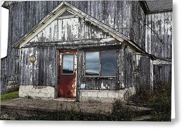 Barn Door Digital Greeting Cards - Rusted Farmhouse Door Greeting Card by Michael Spano