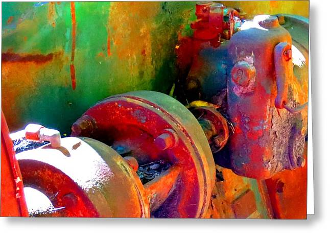 Desiree Paquette Greeting Cards - Rusted Glory 4 Greeting Card by Desiree Paquette