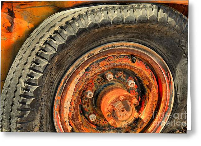 Color Wheel Greeting Cards - Rusted In Death Valley Greeting Card by Adam Jewell
