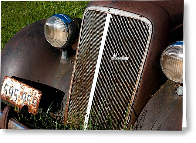 Rusted Cars Photographs Greeting Cards - Rusted Master Greeting Card by Cale Best