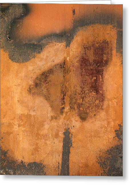 Rusted Metal Abstract Greeting Card by Ben Kotyuk