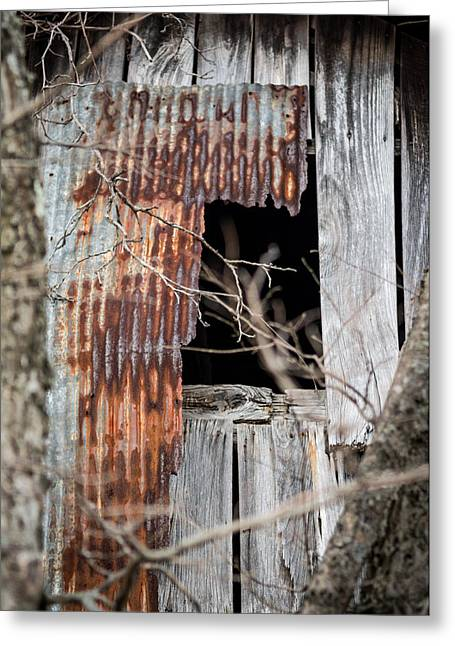Metal Sheet Greeting Cards - Rusted Sheet Metal Greeting Card by Jamie Heeke