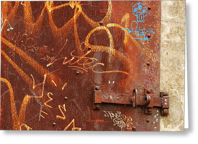 Entryway Greeting Cards - Rusted Steel Relic Greeting Card by Art Block Collections
