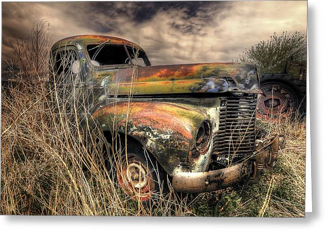 Recently Sold -  - Rusted Cars Greeting Cards - Rusted Truck Greeting Card by John Forrey