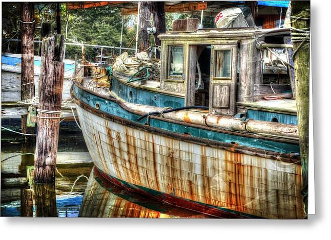 Alabama Greeting Cards - Rusted Wood Greeting Card by Michael Thomas