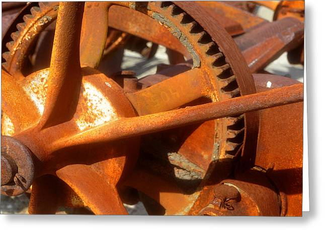 Axels Greeting Cards - Rusted farm eguipment work A Greeting Card by David Lee Thompson