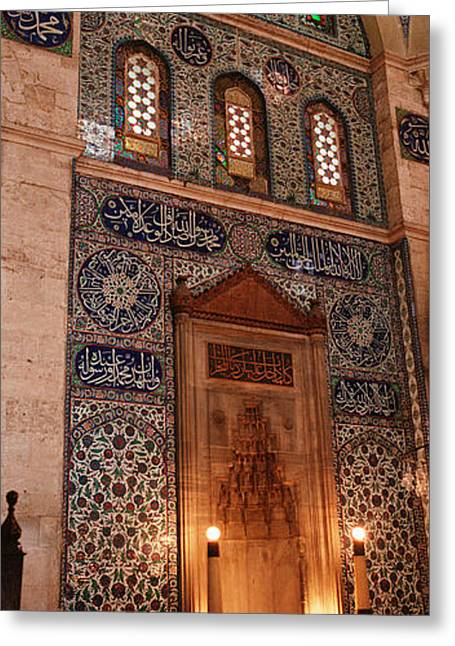 Rustem Pasa Mosque Istanbul Turkey Greeting Card by Panoramic Images