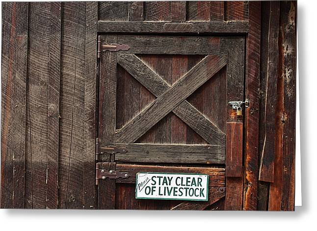 Outbuildings Greeting Cards - Rustic Barn Greeting Card by Art Block Collections