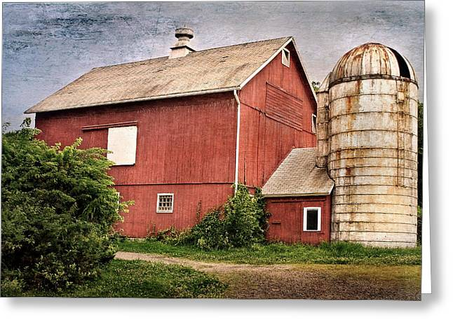 Silo Greeting Cards - Rustic Barn Greeting Card by Bill  Wakeley